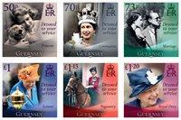 Guernsey - Dronning Elizabeths 95 års fødselsdag - Postfrisk sæt 6v