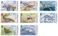 Guernsey - Truet nationalt dyreliv - Postfrisk sæt 8v