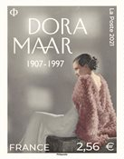 Frankrig - Dora Maar - Postfrisk frimærke