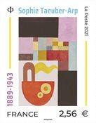 Frankrig - Sophie Taeuber-Arp - Postfrisk frimærke