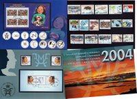 Grønland  - Årsmappe 2004 - 18 frimærker + 4 miniark, komplet - Stemplet