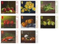 Alderney - Frugter og grøntsager - Postfrisk sæt 8v