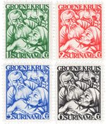 Suriname 1929 - NVPH 141/144 - Postituore