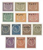 Hollanti 1908 - NVPH 63f/78f - Postituore