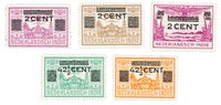 Hollanti 1934 - NVPH 211/215 - Postituore