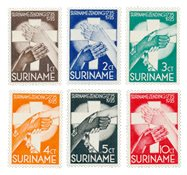 Suriname 1935 - NVPH 151/156 - Postituore