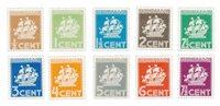 Suriname 1936 - NVPH 157/166 - Postituore