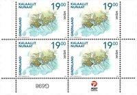 Sepac 2021: Historiske landkort - Postfrisk - 4-blok nedre marginal