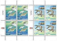 EUROPA - Truede dyrearter - Postfrisk - 4-blok øvre marginal
