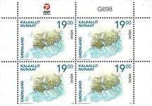 Sepac 2021: Historiske landkort - Postfrisk - 4-blok øvre marginal