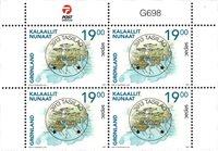 Sepac 2021: Historiske landkort - Centralt dagstemplet - 4-blok øvre marginal
