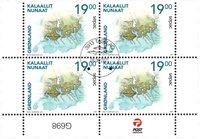 Sepac 2021: Historiske landkort - Dagstemplet - 4-blok nedre marginal