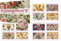 France - Floral patterns - Mint booklet