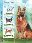 Kirgisistan - Hunde - Postfrisk miniark
