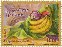 Polynesien - Banan duft - Postfrisk frimærke