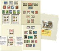 Danmark 1976-1987 - Samling i 1 fortryksalbum - Postfrisk