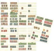 Norge - Dublet samling i 1 indstiksbog - Stemplet