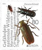 Tyskland - EUROPA 2021 Truet nationalt dyreliv - Postfrisk frimærke