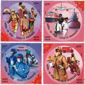 India - COVID-19 frontline workers - Mint set 4v