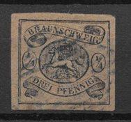 Antichi Stati 1853 - AFA 4 - timbrato