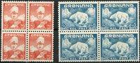 Grønland - AFA 26-27 i 4-blokke - Postfrisk