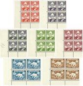 Grønland - AFA 1-7 i 4-blokke - Postfrisk