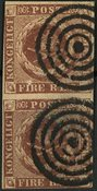 Danmark - AFA 1 Ferslev par - Stemplet