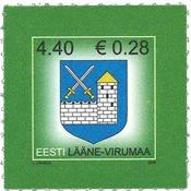 Estland - Våbenskjold Lääne-Virumaa - Postfrisk frimærke