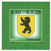 Estland - Våbenskjold Pärnumaa - Postfrisk frimærke