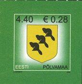 Estland - Pölvamaa - Postfrisk frimærke
