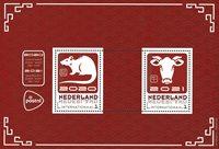 Pays-Bas - L'année du boeuf - Bloc-feuillet neuf