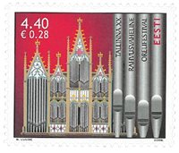 Estland - Orgel musikfestival - Postfrisk frimærke