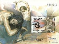 Spanien - Joaquin Cortes - Postfrisk miniark