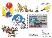 Spanien - Aviser - Postfrisk miniark