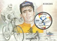 Spanien - M.Indurain /Tour de France - Postfrisk miniark