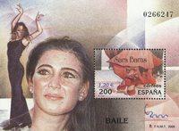 Spanien - Sara Baras - Postfrisk miniark