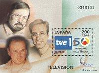 Spanien - Fjernsyn - Postfrisk miniark