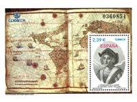 Spanien - 500 år Columbus - Postfrisk miniark