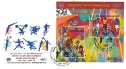 FN Geneve - Olympiske lege - FDC med miniark