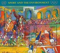 FN New York 1996 - Olympiske lege - Stemplet miniark