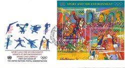 FN New York - Olympiske lege - FDC med miniark