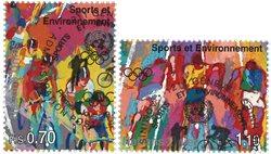 FN Geneve - Olympiske lege - Stemplet sæt 2v