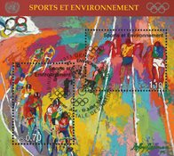 FN Geneve - Olympiske lege - Stemplet miniark