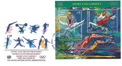 FN Wien - Olympiske lege - FDC med miniark