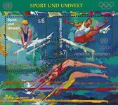 FN Wien 1996 - Olympiske lege - Stemplet miniark