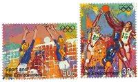 FN New York - Olympiske lege - Postfrisk sæt 2v