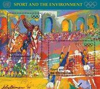 FN New York 1996 - Olympiske lege - Postfrisk miniark