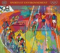 FN Geneve 1996 - Olympiske lege - Postfrisk miniark