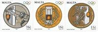Malta - Olympiske lege - Postfrisk sæt 3v