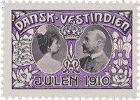 Tanskan Länsi-Intia - Joulu 1910 - Postituoreena
